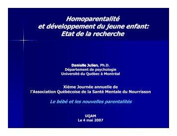 Homoparentalite et développement du jeune enfant - Association ...