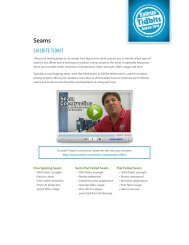 2010 August: Seams (PDF) - Sailrite.com