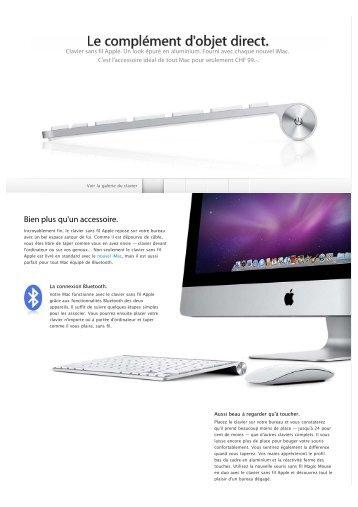 Apple - Clavier sans fil Apple - Découvrez ce clavier ... - 1000 Ordi