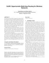 Opportunistic Multi-Hop Routing for Wireless Networks - Sigcomm