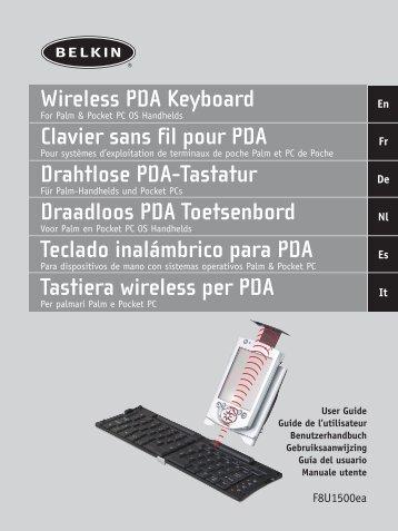 Wireless PDA Keyboard Clavier sans fil pour PDA Drahtlose ... - Belkin