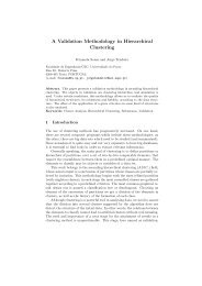 A Validation Methodology in Hierarchical Clustering