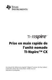 Prise en main rapide de l'unité nomade TI-Nspire™ CX