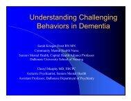 Understanding Challenging Behaviors in Dementia - Government of ...