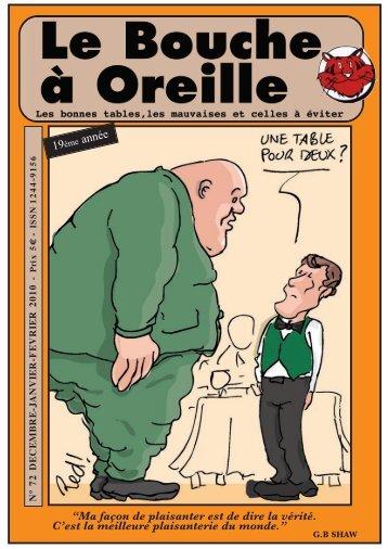 BaO n° 72 - Le Bouche à Oreille