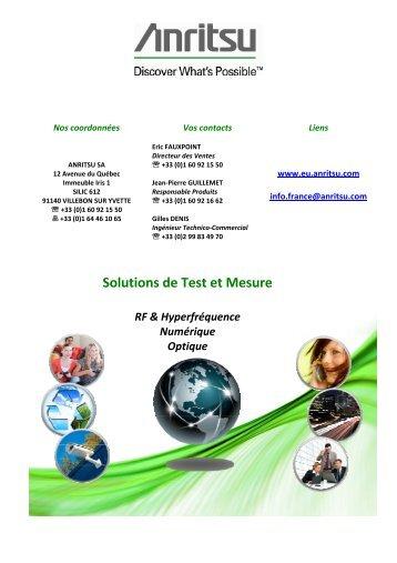 Solutions de Test et Mesure