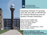 Exploiting Sentinel 5's synergy with IRS and 3MI on METOP-SG for ...