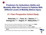 Predictors for Ambulatory Ability and Mortality After Hip Fracture in ...