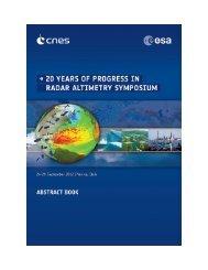 20 Years of Progress in Radar Altimetry Symposium