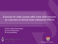 Exercise for older people after lower limb fracture: an overview of ...