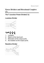 Power Dividers and Directional Couplers (7)