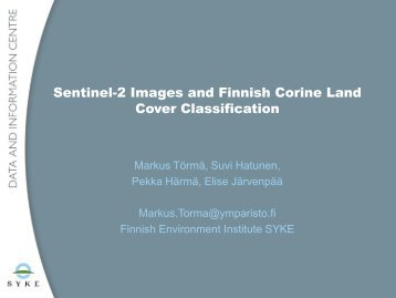 Sentinel-2 Images and Finnish Corine Land Cover Classification