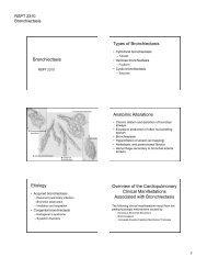 Bronchiectasis Types of Bronchiectasis Anatomic Alterations ...