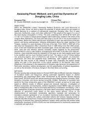 Wetland- and Land Use Dynamics of Dongting Lake, China