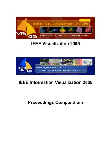 Infovis/Visualization Compendium - IEEE Computer Society
