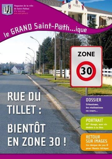RUE DU TILLET : BIENTÔT EN ZONE 30 ! - Mairie de Saint-Pathus