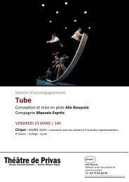 TUBE dossier MARS 2011 - Théâtre de Privas