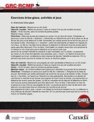 Exercices brise-glace, activités et jeux - What´s the DEAL.org?