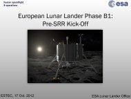 European Lunar Lander Phase B1: Pre-SRR Kick-Off