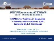 InSAR Error Analysis in Measuring Coseismic Deformation of 2008 ...