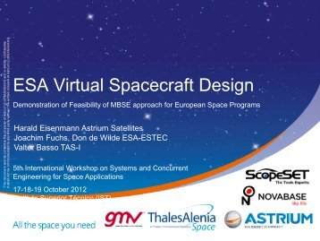ESA Virtual Spacecraft Design