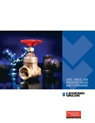 Gate, Check, Low Pressure Valves & Y-Strainers - Legend Valve