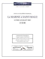 La Marine à Saint Malo - Catalogue vente aux enchères - ARTS ...