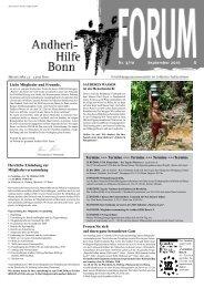 Sauberes Wasser ein Menschenrecht - Andheri-Hilfe Bonn