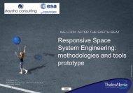 Responsive Space System Engineering: methodologies and tools ...