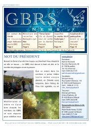 Septembre 2011 - Groupe Belge de Recherche Scientifique Sous ...