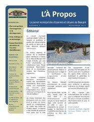 L'À Propos décembre 2011 - Numéro 9 - Ville de Beaupré