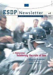 ESDP Newsletter - Europa
