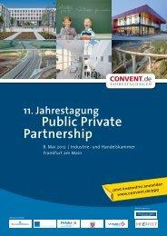 11. Jahrestagung Public Private Partnership - Convent