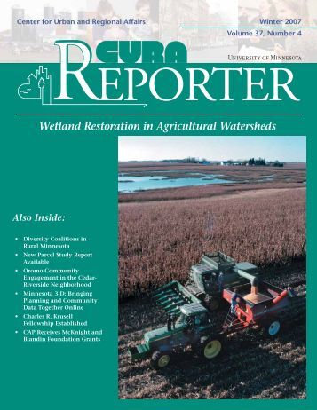 Wetland Restoration in Agricultural Watersheds - Conservancy ...