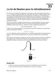 La loi de Newton pour le refroidissement