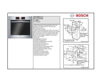 Produits de cuisson (pdf) - Bosch