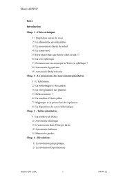 Mauro ARPINO Index Introduction Chap. 1 - Histoire des Sciences