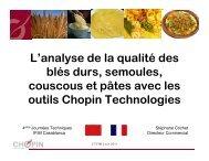 L'analyse de la qualité des blés durs, semoules, couscous… - FNM