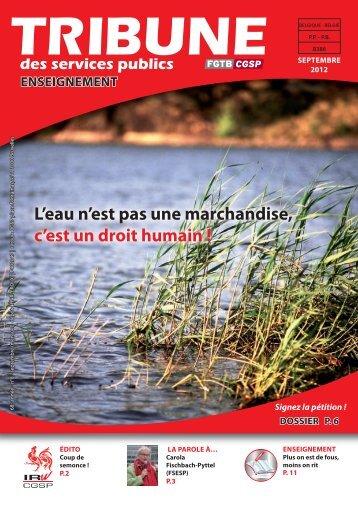 L'eau n'est pas une marchandise, c'est un droit humain !