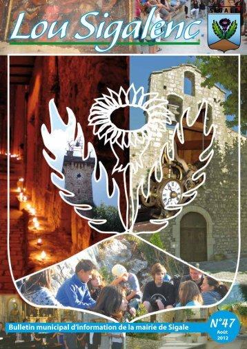 Bulletin municipal d'information de la mairie de Sigale - Accueil du site