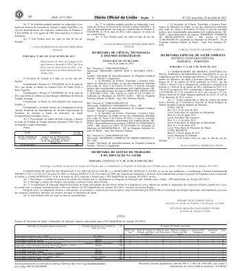 Portaria Conjunta SGTES/SAS/MS, nº 9, de 24/06/2013