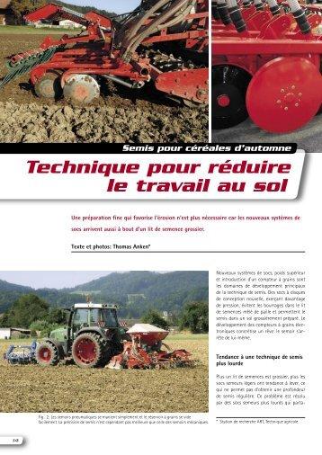 Technique pour réduire le travail au sol