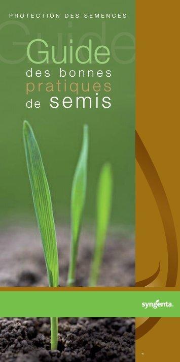 Guide des bonnes pratiques de semis - Syngenta