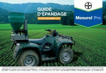 GUIDe D'éPANDAGe - Bayer-Agri