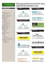 Bezugsquellenverzeichnis 2013