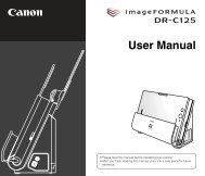 DR-C125 User Manual - Canon