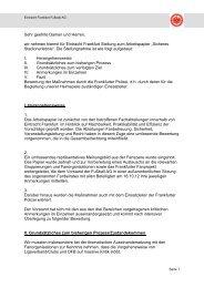 Stellungnahme von Eintracht Frankfurt - Eintracht Frankfurt e.V.