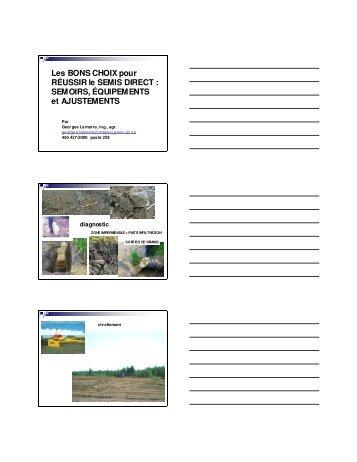 Les bons choix pour réussir le semis direct : semoirs ... - MAPAQ