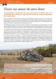 semoirs à distribution volumétrique - Cuma Midi Pyrénées