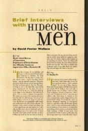 Brief Interviews with Hideous Men - Harper's Magazine